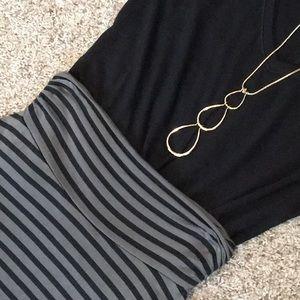Renee C. Striped Maxi Skirt